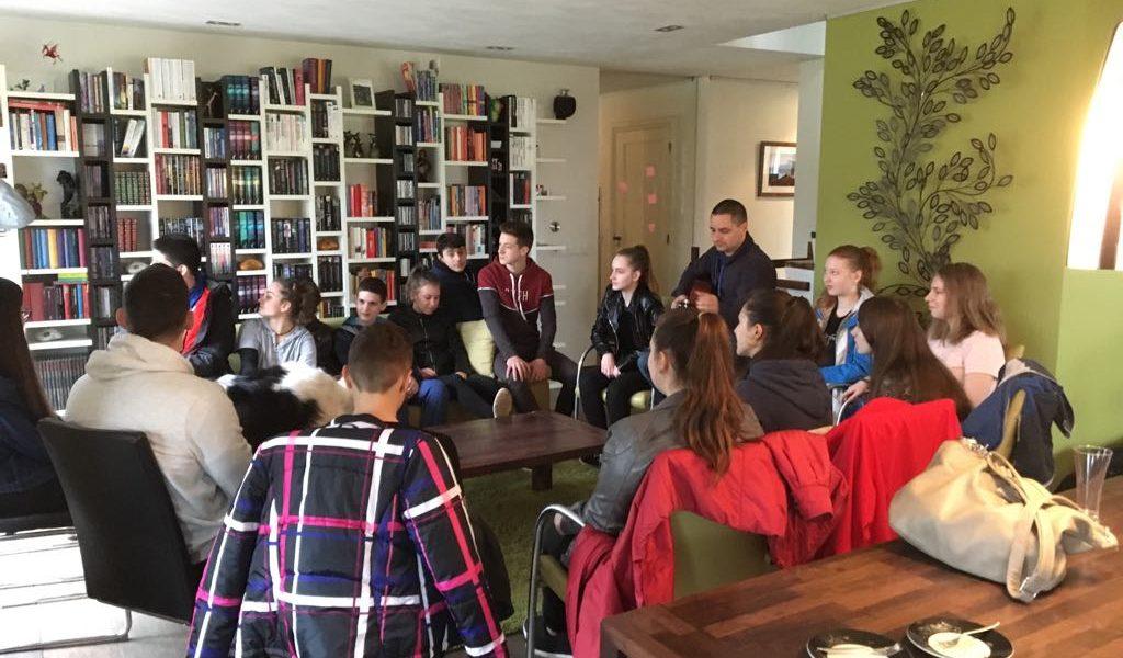 Bezoek Hongaarse jongeren